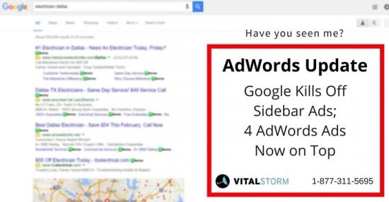 google adwords update - no sidebar PPC ads - February 2016