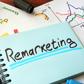 Remarketing written on a notepad with marker.