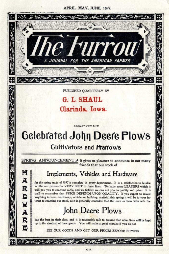 early example of content writing from John Deere's The Furrow