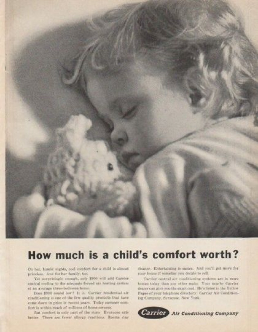 vintage Carrier Air Conditioning Ad - copywriting tips