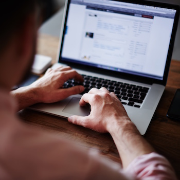 man trying to figure out Facebook Marketing and Advertising