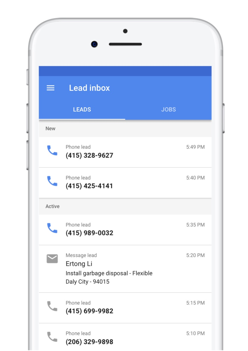google local services mobile app (android, ios)