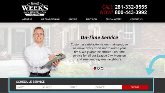 conversion optimization for home service websites