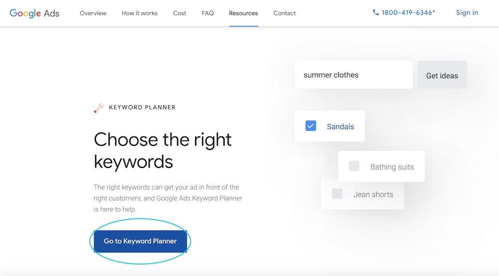 Sign into Google Keyword Planner - VitalStorm
