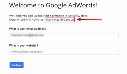 Skip guided step in Google AdWords - Google Keyword Planner
