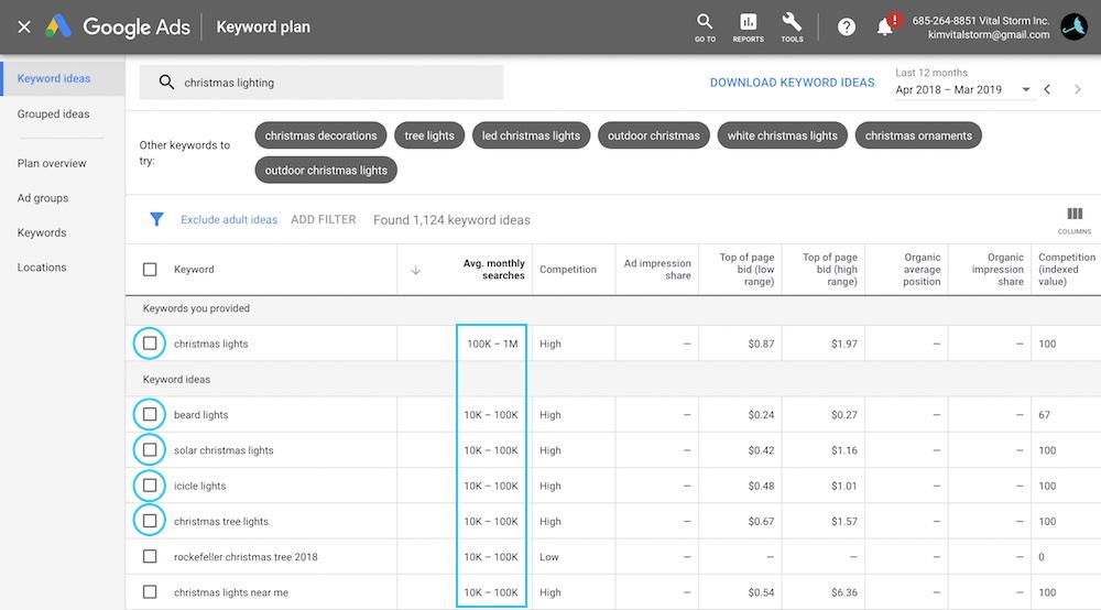 find keyword volume data - Google Keyword Planner
